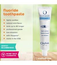 Зубная паста отбеливающая против запаха изо рта Oxyfresh Fluoride Toothpaste (с фтором) 150g