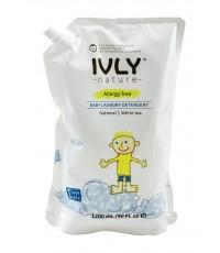 Гипоал. ср-во для стир. детс.белья Baby Laundry Detergent IVLY с экстр. овсяных хлопьев и бел. чая 1,2л. реффил/042413