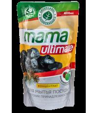 Средство для мытья посуды MAMA Ultimate (масло сибирского кедра и экстракт древесного угля) cedar & charcoal 400МЛ /020066