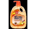 Средство для мытья посуды MAMA LEMON  (антибактериальная) orange 1000МЛ / 46308