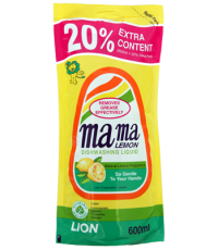 Средство для мытья посуды MAMA LEMON  (свежий лимон) fresh lemon 600МЛ /46310