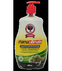 Средство для мытья посуды MAMA Ultimate (масло сибирского кедра и экстракт древесного угля) cedar & charcoal 1000МЛ / 049337